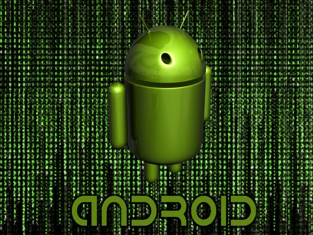 3d Wallpapers For Android Phones: Android BugDroid 3D Wallpaper Black Matrix, Wallpaper