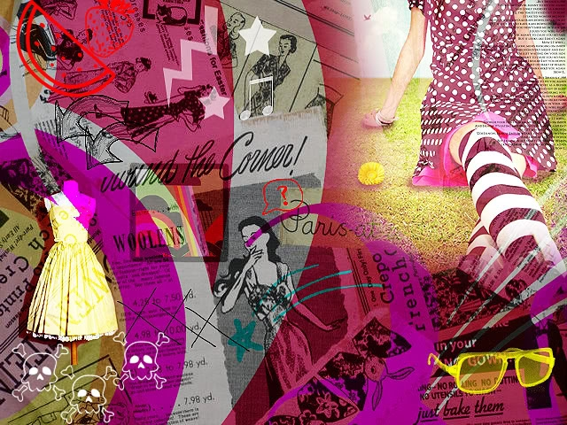 Vintage fashion wallpaper desktop